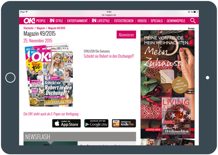 OK Magazine Screenshot Verlinkung Best Practice